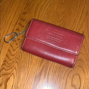 Vintage red coach wallet